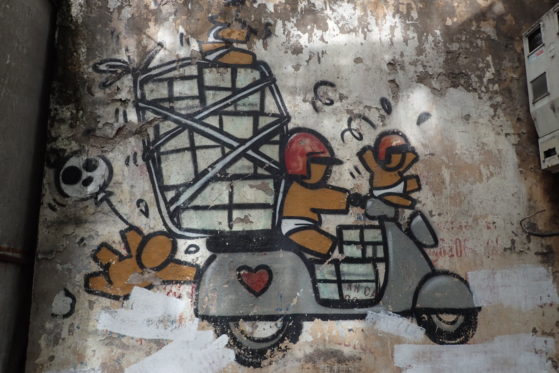 grafitty moto en Ha noi